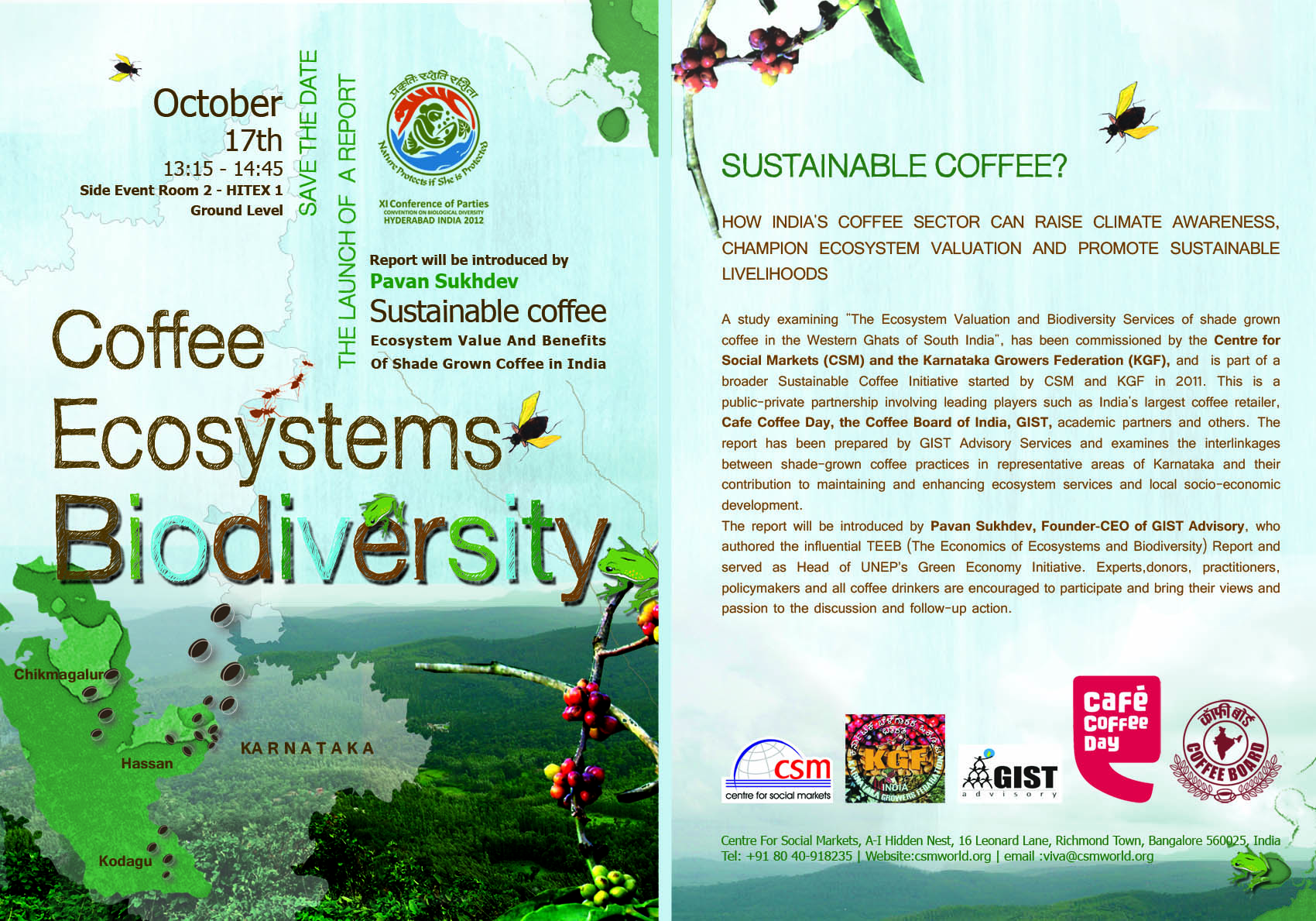 Sustainable Coffee – Ecosystem value and benefits of shade grown coffee in India